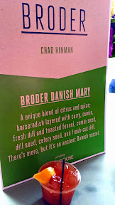 Broder man Chad Hinman brought a Broder Danish Mary that included a blend of citrus, spice, horseradish layered with curry, cumin, fresh dill, toated fennel, cumin seed, dill seed, celery seed, and fresh cut dill and more left under Danish secret. Portland Monthly's Country Brunch 2014 at Castaway benefiting Zenger Farm