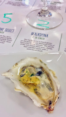 Pizzolato Pinot Grigio paired with Malaspina oysters