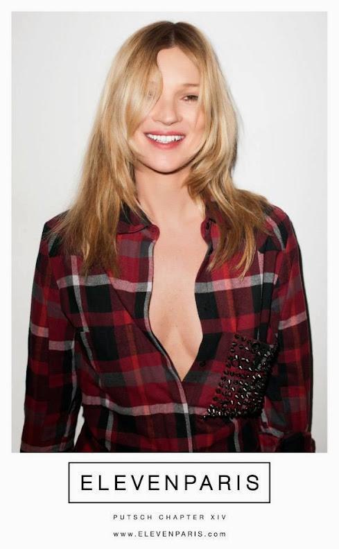 Kate Moss y el rapero Wiz Khalifa protagonizan la campaña de Eleven Paris