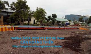 Hình ảnh trạm cân xe tải Hoàng Thiên Chất Lượng