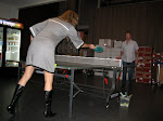 This was the worst game of ping pong I have ever witnessed, but at least they looked good trying....very LA