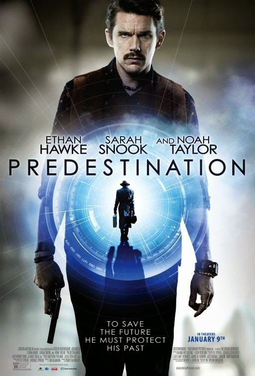 Poster Of English Movie Predestination (2014) Free Download Full New Hollywood Movie Watch Online At Alldownloads4u.Com