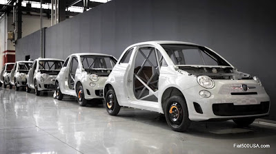 500 Abarth body shells