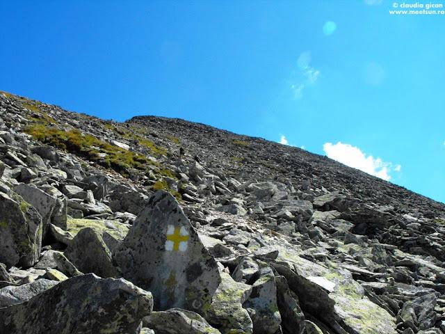 trasee marcate Retezat: cruce galbenă spre Papusa