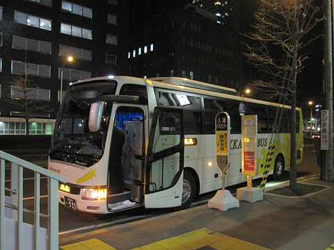 北海道バス「釧路特急ニュースター号」・993 札幌大通市営バスセンター改札中