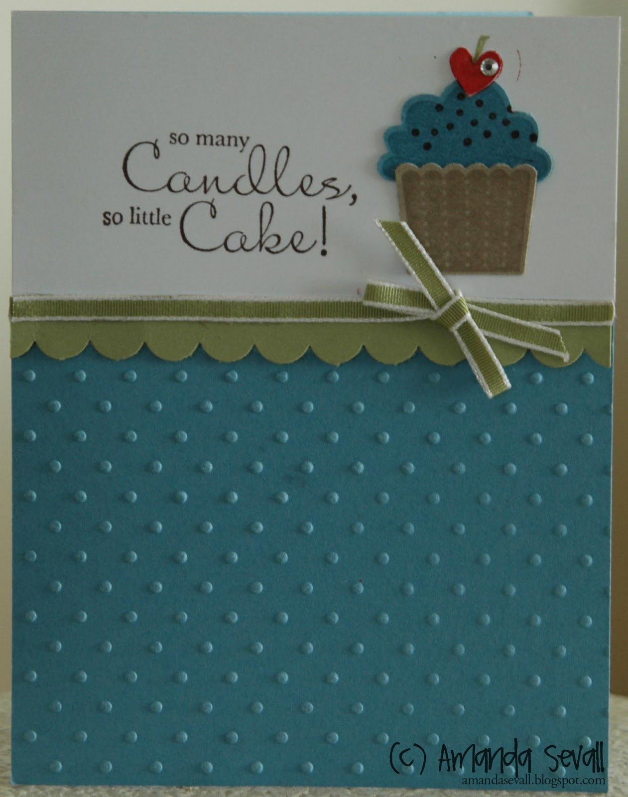 Amanda Sevall Designs: Card: So Many Candles... With A