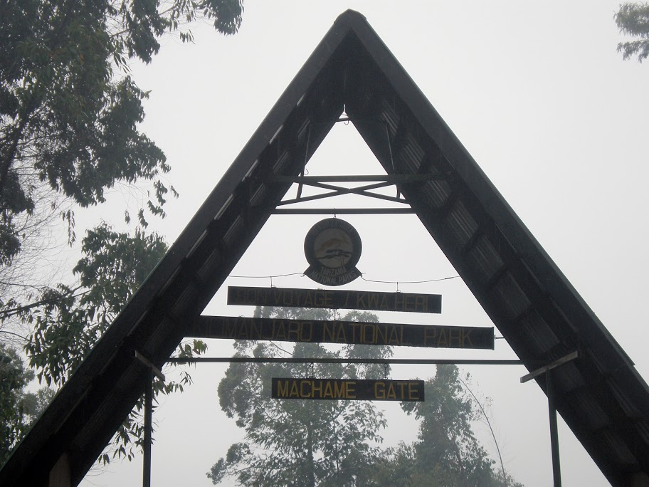 Kilimanjaro park entrance - Machame route