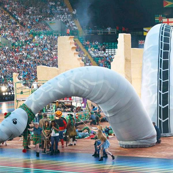 Dancers perform during the opening ceremony for the 2014 Commonwealth Games at Celtic Park in Glasgow, Scotland, July 23, 2014.