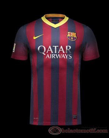 Detail Jersey Home – Away Barcelona Musim 2013/2014
