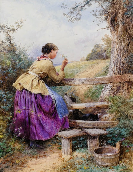 Myles Birket Foster - Waiting for Father