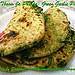 green garlic paratha