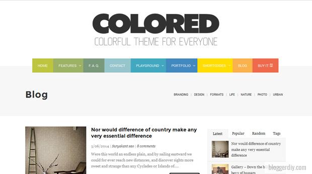 Colored Blogger template