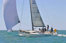 J/111 one-design cruiser racer sailboat- sailing Italy on Mediterranean