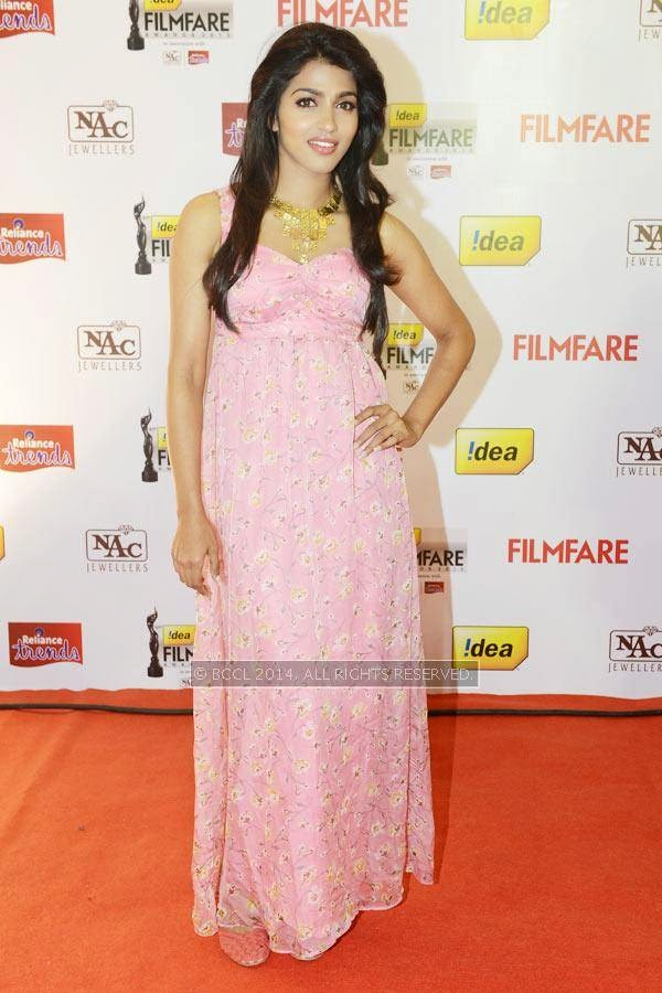 Dhanshikaa during the 61st Idea Filmfare Awards South, held at Jawaharlal Nehru Stadium in Chennai, on July 12, 2014.