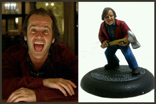 Jack Nicholson el resplandor RogueMiniatures
