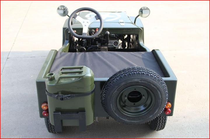 125cc US Army Jeep Mini Kids Buggy