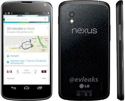 LG Nexus 4:@evleaks