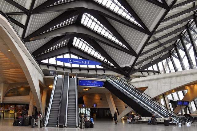TGV Bahnhof, Saint Exupery Airport, Lyon, France. From Travel from Paris: 20 Tips on Taking the TGV