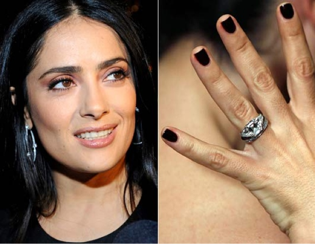 Fabulous Celebrity Wedding Rings From Salma Hayek Jessica Alba And Miranda Kerr