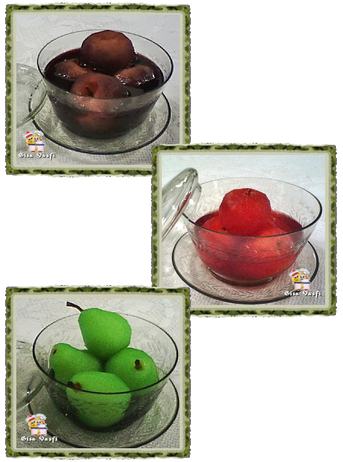 Maçã e pera na gelatina