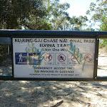 Elvina Track trackhead sign on gate (303921)