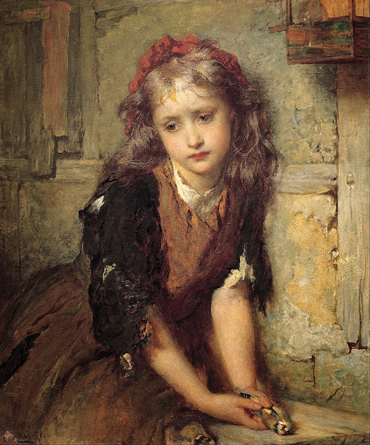 George Elgar Hicks - The dead goldfinch ('All that was left to love') - Google Art Project