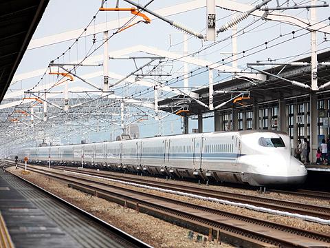 JR東海 N700系新幹線電車 姫路駅にて