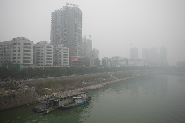Xiang River in Hengyang, Hunan province, China