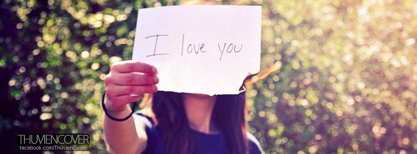 ảnh bìa có chữ anh yêu em, em yêu anh