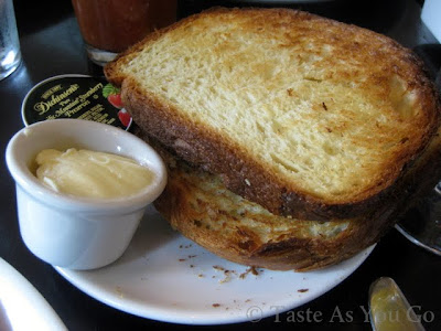 Brioche Toast with Butter and Preserves at Stephi's on Tremont in Boston, MA - Photo by Taste As You Go