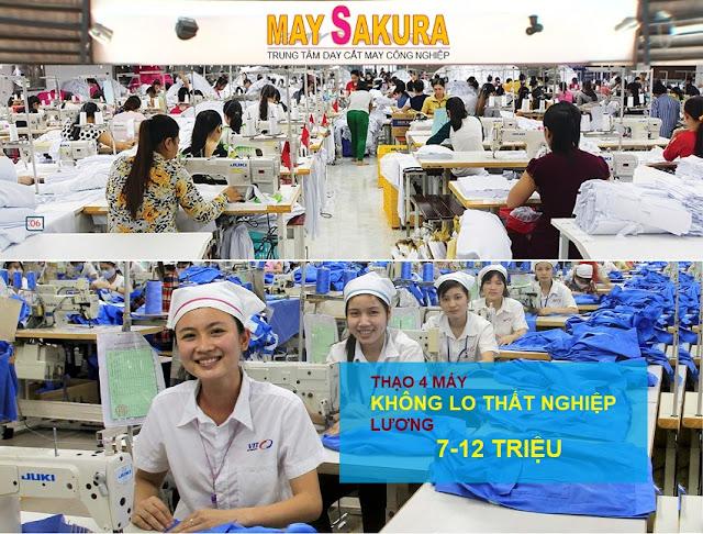 Học may công nghiệp Thành thạo 4 máy không lo thất nghiệp