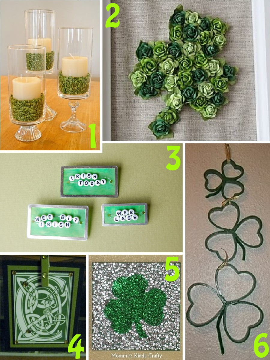Collection of st patrick 39 s day crafts the scrap shoppe for Shamrock decorations home