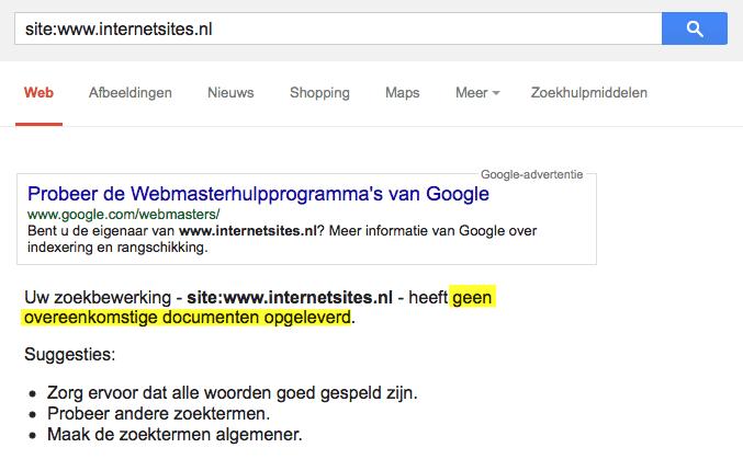 Geen resultaten geïndexeerd voor internetsites.nl