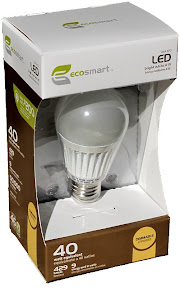EcoSmart 429 Lumen LED light bulb, $10 at Home Depot