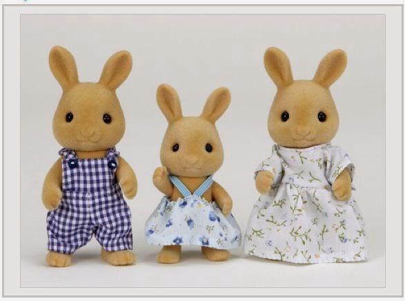 Gia đình nhà Thỏ Nâu Ocher Rabbit Family rất xứng được sống trong những ngôi nhà nhỏ của các gia đình sylvanian