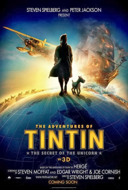 Poster Of The Adventures of Tintin (2011) Full Movie Hindi Dubbed Free Download Watch Online At Alldownloads4u.Com