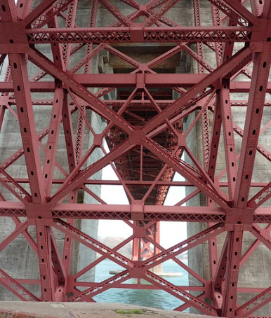 Ossature métallique du Golden Gate Bridge