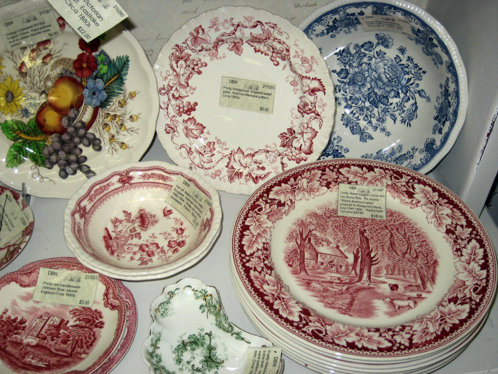 A wonderful find of seven dinner plates of the popular Homer Laughlin Historic Americana Currier and Ives series ... & musings of a sea witch: Finding Treasure