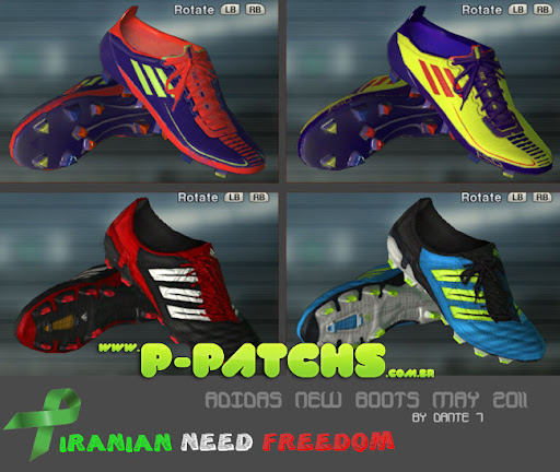 Chuteira Adidas adiZero Colourways - PES 2012