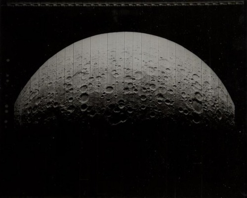 Wide-angle view of the hidden side of the Moon, Lunar Orbiter 5, 6 August 1967
