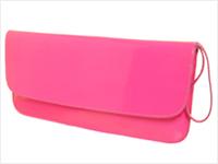 Bolsa Lilly's Closet Neon Lapela Rosa
