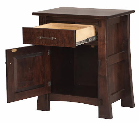 Seville Nightstand with Door in Onyx Maple