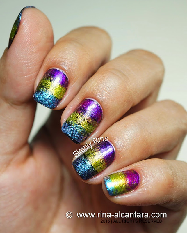 Fantastical Sponged Nail Art