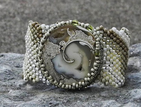 Freeform Peyote Cuff by Cheri C. Meyer