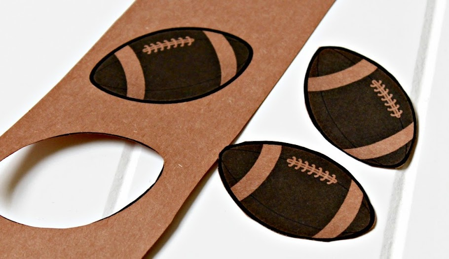 Cut out football shapes