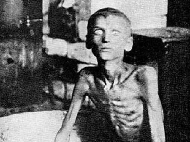 Criança desnutrida durante o Holodomor, 1933. Fotografia: Gareth Richard Vaughan Jones.
