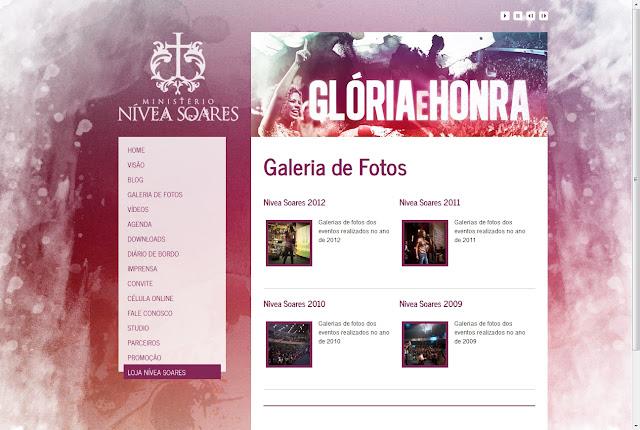 *唯美浪漫風的音樂歌手網 Nivea Soares Web Site 3