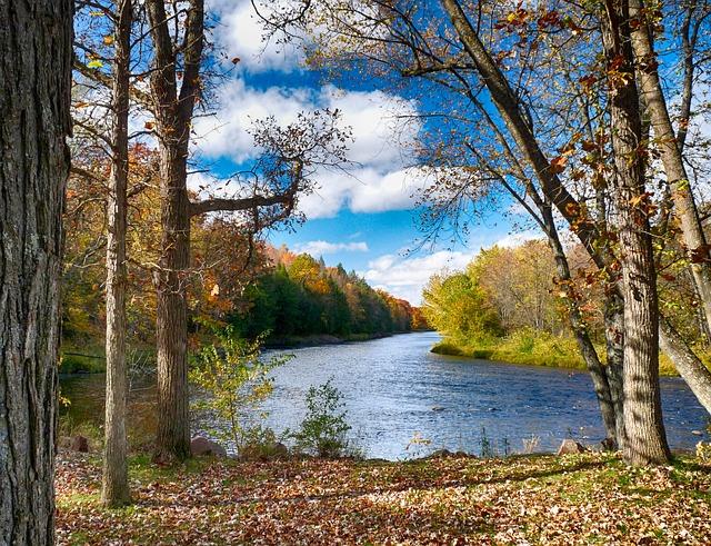 ảnh dòng sông tháng 8 nhẹ nhàng trôi