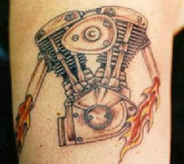 Motor Tattoo Designs Top tattoo designs for bikers: