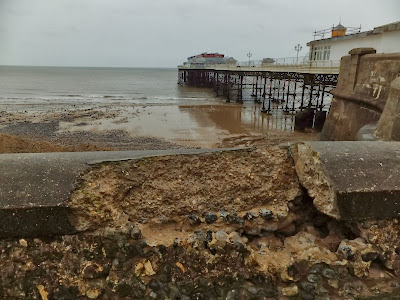 Damage to the prom wall